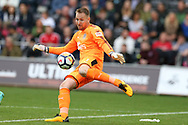 Rob Elliot , the Newcastle Utd goalkeeper in action. Premier league match, Swansea city v Newcastle Utd at the Liberty Stadium in Swansea, South Wales on Sunday 10th September 2017.<br /> pic by  Andrew Orchard, Andrew Orchard sports photography.