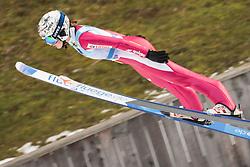 February 8, 2019 - Ljubno, Savinjska, Slovenia - Kinga Rajda of Poland competes on first competition day of the FIS Ski Jumping World Cup Ladies Ljubno on February 8, 2019 in Ljubno, Slovenia. (Credit Image: © Rok Rakun/Pacific Press via ZUMA Wire)