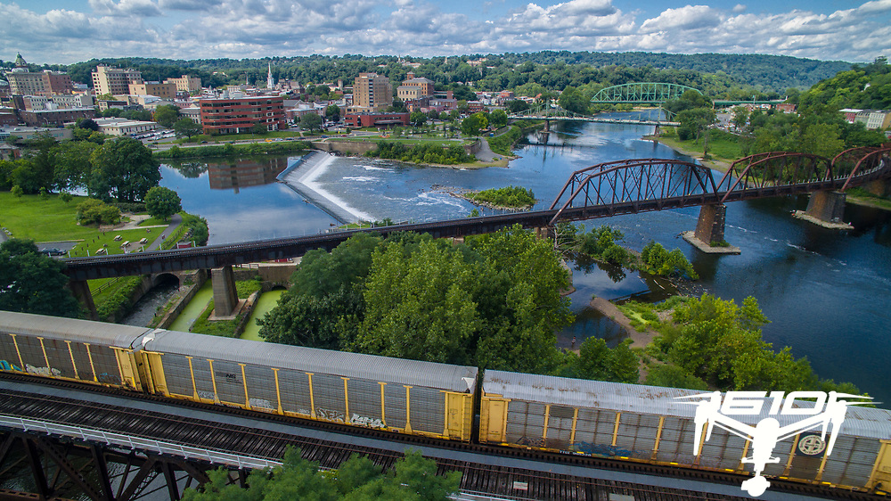 Rich with history, Easton, Pennsylvania is nestled where the Lehigh River joins the Delaware River.