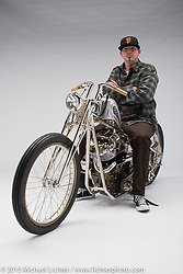 Solomon Special, a custom 1976 shovelhead built by Rick Bray of RKB in Hanford, CA. Photographed by Michael Lichter at the Sacramento Easyriders Show on January 16, 2015. ©2015 Michael Lichter.
