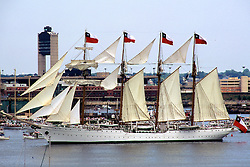 "Chilean Tall Ship ""Esmeralda"" A Steel-hulled Four-masted Barquentine Tall Ship"