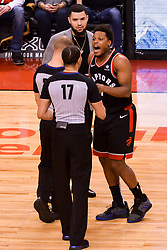 February 11, 2019 - Toronto, Ontario, Canada - Kyle Lowry #7 of the Toronto Raptors argues with the referee during the Toronto Raptors vs Brooklyn Nets NBA regular season game at Scotiabank Arena on February 11, 2019, in Toronto, Canada (Toronto Raptors win 127-125) (Credit Image: © Anatoliy Cherkasov/NurPhoto via ZUMA Press)