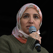 Salma Yaqoob Patron of Stop the War Coalition rally for Palestine Stop Arming Israel - Stop Bombing Gaza London, Hype Parl on 22nd May 2021.