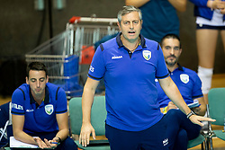 Alessandro Chiappini, head coach of Slovenia during volleyball match between National teams of Slovenia and Belgium in 4th Qualification Round of 2019 CEV Volleyball Women's European Championship, on August 25, 2018 in Sports hall Tabor, Maribor, Slovenia. Photo by Urban Urbanc / Sportida