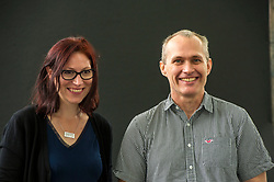 Pictured:Natalie Louise Haynes and David Vann<br /> <br /> Natalie Louise Haynes is an English writer and broadcaster and a former comedian. She attended King Edward VI High School for Girls, Birmingham then read Classics at Christ's College, Cambridge<br /> <br /> David Vann was born October 19, 1966 on Adak Island in the Aleutian Islands, Alaska. He is a novelist and short story writer, and is currently a professor of creative writing at the University of Warwick in England.<br /> <br /> <br /> Book fanatics headed to Charlotte Square in Edinburgh which is the hub of the international Book Festival to meet the authors and also to meet up with fellow fans of the printed word.<br /> <br /> 27 August 2017