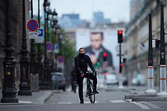 Cyclists During Lockdown - Paris - 5 May 2020