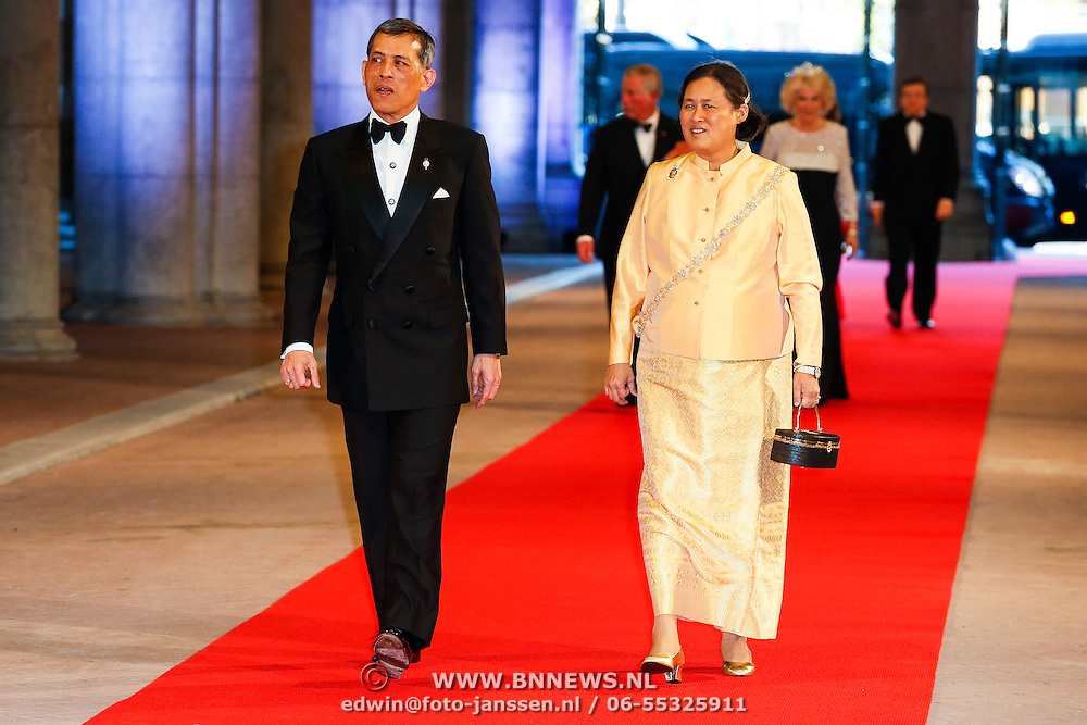 NLD/Amsterdam/20130429- Afscheidsdiner Konining Beatrix Rijksmuseum, Crown Prince Maha Vajiralongkorn and princess Prinses Maha Chakri Sirindhorn of Thailand