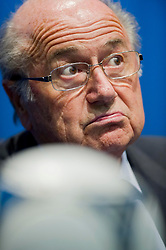 28-09-2012 SUI: FIFA President Joseph S. Blatter, Zurich<br /> Joseph S. Blatter, president of FIFA, during a Press Conference of the FIFA Executive Committee at the Zurich, Switzerland<br /> <br /> *****NETHERLANDS ONLY*****