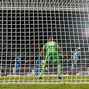 Sivasspor's goalkeeper Milan Borjan during their Turkish superleague soccer match Besiktas between Sivasspor at BJK Inonu Stadium in Istanbul Turkey on Monday, 01 October 2012. Photo by TURKPIX