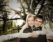 Rosanna & Matt Pre Wedding Photographs at Attenborough Nature Reserve under the Willow Tree
