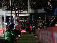 QPR's Bobby Zamora celebrates scoring his sides second goal<br /> <br /> - Barclays Premier League - Queens Park Rangers vs Manchester City- Loftus Road - London - England - 8th November 2014  - Picture David Klein/Sportimage