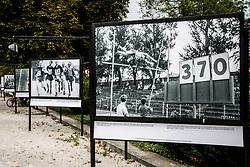 Photo of Pole Vault in Ljubljana, Bezigrad stadium, year 1960 during Opening ceremony of photo exhibition at 100 years Anniversary of Slovenian Athletic Federation, on September 17, 2020 in Tivoli park, Jakopicevo sprehajalisce, Ljubljana, Slovenia. Photo by Vid Ponikvar / Sportida