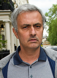 ©  London News Pictures. 22/05/2016. London, UK. JOSE MOURINHO leaves his home in west London amid reports that he is due to be announced as manager of Manchester United Football Club. Mourinho is expected to replace the current boss, Louis van Gaal, who failed to get the club in to next years champions league. Photo credit: Ben Cawthra/LNP