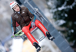 Simon Ammann of Switzerland during Trial round of the FIS Ski Jumping World Cup event of the 58th Four Hills ski jumping tournament, on January 5, 2010 in Bischofshofen, Austria. (Photo by Vid Ponikvar / Sportida)
