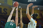 March 18, 2016; Tempe, Ariz;  Green Bay Phoenix center Lexi Weitzer (33) battles for a rebound during a game between No. 7 Tennessee Lady Volunteers and No. 10 Green Bay Phoenix in the first round of the 2016 NCAA Division I Women's Basketball Championship in Tempe, Ariz.