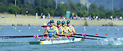 Sydney. AUSTRALIA. 2000 Summer Olympic Regatta, Penrith. NSW.  <br /> <br /> AUS M4- Men's Four – Bronze<br /> James Stewart, Ben Dodwell <br /> Geoff Stewart,  Bo Hansen  <br /> <br /> [Mandatory Credit Peter SPURRIER/ Intersport Images] Sydney International Regatta Centre (SIRC) 2000 Olympic Rowing Regatta00085138.tif
