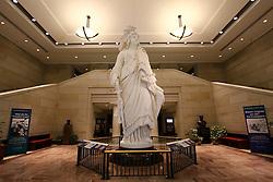 THEMENBILD - Das Original der Statue of Freedom steht auf der Kuppel des Kapitols. Reisebericht, aufgenommen am 12. Jannuar 2016 in Washington D.C. //. Travelogue, Recorded January 12, 2016 in Washington DC. EXPA Pictures © 2016, PhotoCredit: EXPA/ Eibner-Pressefoto/ Hundt<br /> <br /> *****ATTENTION - OUT of GER*****