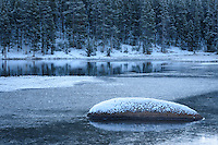It was only October, but it looked like winter at Sibley Lake in the Bighorn Mountains.