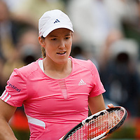 07 June 2007: Belgian player Justine Henin is seen during the French Tennis Open semi final won 6-2, 6-2 by Justine Henin over Jelena Jankovic on day 12 at Roland Garros, in Paris, France.