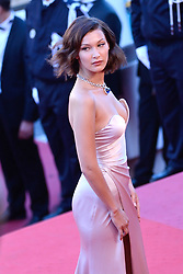 Bella Hadid arriving at Les Fantomes d'Ismael screening and opening ceremony held at the Palais Des Festivals in Cannes, France on May 17, 2017, as part of the 70th Cannes Film Festival. Photo by Aurore Marechal/ABACAPRESS.COM