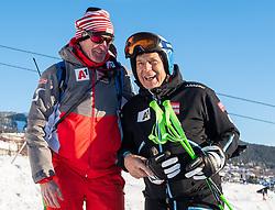 07.02.2019, Aare, SWE, FIS Weltmeisterschaften Ski Alpin, Abfahrt, Herren, 1. Training, im Bild v.l. Andreas Puelacher (Sportlicher Leiter ÖSV Ski Alpin Herren), Prof. Peter Schröcksnadel (ÖSV Präsident) // f.l. Andreas Puelacher Austrian Ski Association head Coach alpine Men's, Peter Schroecksnadel Austrian Ski Association President in action during his 1st training run for the men's Downhill of FIS Ski World Championships 2019. Aare, Sweden on 2019/02/07. EXPA Pictures © 2019, PhotoCredit: EXPA/ Johann Groder