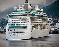 Radiance of the Seas Cruise Ship in Ketchikan. Image taken with a Nikon D300 camera and 70-300 mm VR lens.