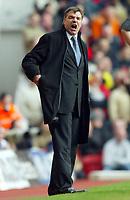 Photo: Scott Heavey.<br />Arsenal v Bolton. FA Barclaycard Premiership. 20/03/2004.<br />Sam Allardyce cant believe his Bolton team haven't levelled the scores