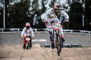 #100 (PAJON Mariana) COL at the 2014 UCI BMX Supercross World Cup in Santiago Del Estero, Argentina.