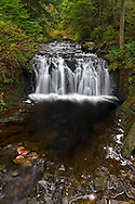 Rolley Creek Falls on Rolley Creek in Rolley Lake Provincial Park in Mission, British Columbia, Canada