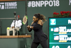 March 12, 2018 - Indian Wells, California, United States Of America - INDIAN WELLS, CA - MARCH 12: Venus Williams and Serena Williams at their match against each other during the BNP Paribas Open at the Indian Wells Tennis Garden on March 12, 2018 in Indian Wells, California...People:  Serena Williams. (Credit Image: © SMG via ZUMA Wire)