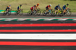 BUJAK Eugenia of Slovenia and PINTAR Urska of Slovenia compete during Women Elite Road Race at UCI Road World Championship 2020, on September 26, 2020 in Imola, Italy. Photo by Vid Ponikvar / Sportida