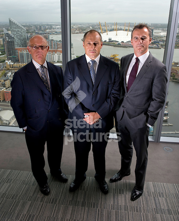 Picture by Daniel Hambury. .8/9/11.L-R.David Buik, Shaun Lynn and Philip Norton who all work for Cantor Fitzgerald and have done so since before the September 11th attacks in New York. Cantor Fitzgerald lost many employees in the attacks.