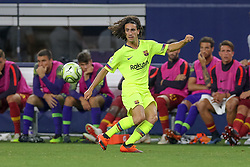 July 31, 2018 - Arlington, TX, U.S. - ARLINGTON, TX - JULY 31: FC Barcelona defender Marc Cucurella (28) prepares to receive a pass during the International Champions Cup between FC Barcelona and AS Roma on July 31, 2018 at AT&T Stadium in Arlington, TX.  (Photo by Andrew Dieb/Icon Sportswire) (Credit Image: © Andrew Dieb/Icon SMI via ZUMA Press)