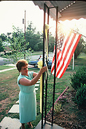 Families waiting for the return of the US hostages held in Iran  in September 1980. Marge German wait for the retern at their home in Rockville Marland.  <br />Photo by Dennis Brack. bb77
