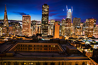 Downtown San Francisco Skyline @ Twilight