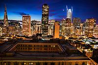 Downtown San Francisco Skyline @ Twilight