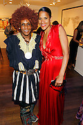 May 19, 2016-Brooklyn, NY: United States: (L-R) Photographic Artist Renee Cox and Arts Educator Dr. Isolde Brielmaier attend the 2nd Annual (Museum of Contemporary African Diasporic Art (MoCADA) Masquerade Ball held at the Brooklyn Academy of Music on May 19, 2016 in Brooklyn, New York. (Terrence Jennings/terrencejennngs.com)