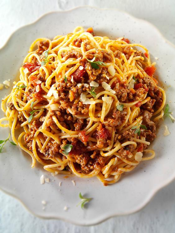 Traditional Italian Spaghetti Bolognese