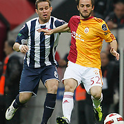 Galatasaray's Emre COLAK (R) during their Turkish Super League soccer match Galatasaray between Kasimpasaspor at the TT Arena at Seyrantepe in Istanbul Turkey on Monday 09 May 2011. Photo by TURKPIX