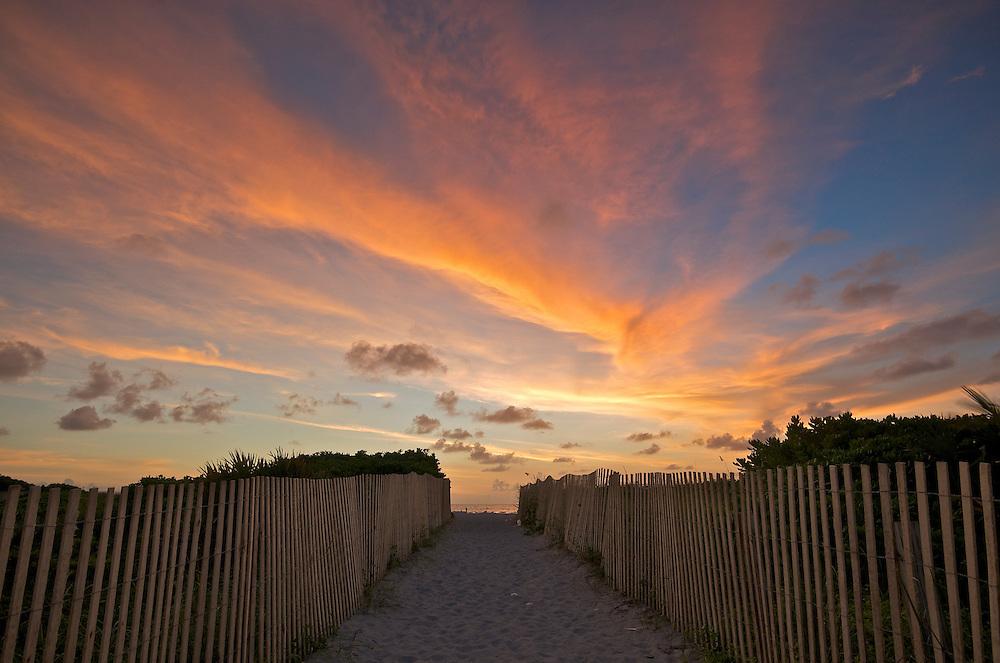 Sunrise in Miami Beach, Florida, USA