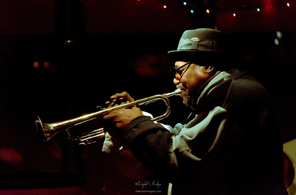 Arnold Hurt, one of the musicians that came out to The Bus Stop Music Cafe to join The Gil Lewis Trio.