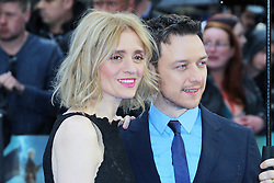 © Licensed to London News Pictures. 12/05/2014, UK. Anne-Marie Duff; James McAvoy, X-Men: Days Of Future Past - UK Film Premiere, Odeon Leicester Square, London UK, 12 May 2014. Photo credit : Richard Goldschmidt/Piqtured/LNP