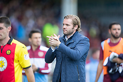 Hearts Head Coach Robbie Neilson at the end. Partick Thistle 1 v 2 Hearts, Ladbrokes Premiership match played 27/89/2016 at Firhill.