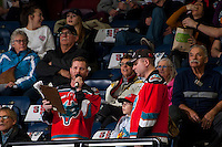 KELOWNA, CANADA - FEBRUARY 10: Brian Mac, game host of the Kelowna Rockets stands in the crowd during a time out against the Vancouver Giants on February 10, 2017 at Prospera Place in Kelowna, British Columbia, Canada.  (Photo by Marissa Baecker/Shoot the Breeze)  *** Local Caption ***