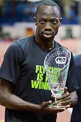 Millrose Games indoor track and field: Lopez Lomong, 5000 meters, winner,