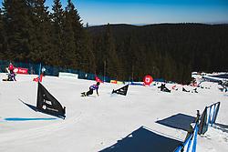 Hill during parallel slalom FIS Snowboard Alpine World Championships 2021 on March 2nd 2021 on Rogla, Slovenia. Photo by Grega Valancic / Sportida