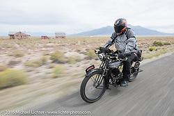 Richard Asprey of Texas riding his 1915 Norton during the Motorcycle Cannonball Race of the Century. Stage-10 ride from Pueblo, CO to Durango, CO. USA. Tuesday September 20, 2016. Photography ©2016 Michael Lichter.