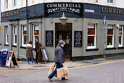 Dunfermline, Scotland, UK. 11 November 2020. Exterior of Commercial Inn pub in Dunfermline town centre. Fife is being moved into the more severe level 3 of the coronavirus lockdown on Friday 13 November by the Scottish Government. This will mean tighter controls and opening hours of  bars and restaurants and the selling of alcohol. Iain Masterton/Alamy Live News