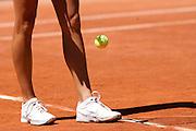 Roland Garros. Paris, France. 24 Mai 2010..La joueuse croate Petra MARTIC contre Elena DEMENTIEVA...Roland Garros. Paris, France. May 24th 2010..Croatian player Petra MARTIC against Elena DEMENTIEVA..