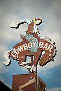 Cowboy Bar sign, Grand Tetons National Park, Jackson, Wyoming